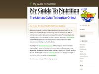 My Guide To Nutrition