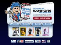 myhockeytradingcards.com Personalized Custom Hockey Trading Card with your photos and stats