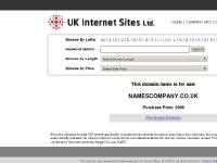 namescompany.co.uk | UK Internet Sites Domains For Sale