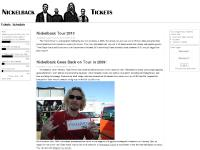 Nickelback Tickets, Schedule, News and Tour Information