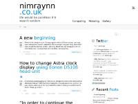 nimraynn.co.uk  ← life would be pointless if it wasn't random