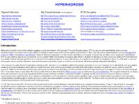 Hyperhidrosis (excessive sweating) information and discussions