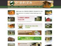 O'Brien Timber Products Limited, OBrien Timber Products Limited, Mountbellew, County Galway, timber products, garden sheds, summerhouses, chalets, garages, garden seating, picket fencing