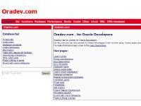 Oradev.com main page