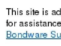 Bondware Site Disabled