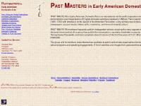 Past Masters in Early American Domestic Arts