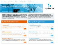 pepscan.com Pepscan, Peptide products & services, Drug discovery