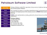 Petroleum Software Limited