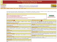 Plant Maintenance Resource Center - Industrial Maintenance information source