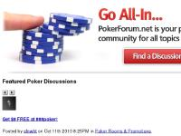 pokerforum.net poker forum, poker discussions, poker talk