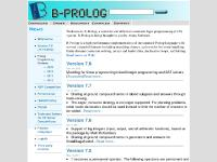 Third party libraries, CGLIB Version 6.5, XML Parser(Binding Time Limited), CHR on B-Prolog