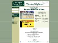 "People's State Bank & Trust : : ""There Is A Difference"""