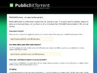 PublicBitTorrent - An open tracker project