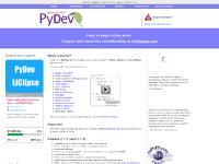 pydev.org pydev, python, ide