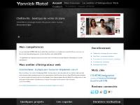 Yannick Ratel, intégrateur XHTML/CSS, création de sites internet, spécialisé WordPress