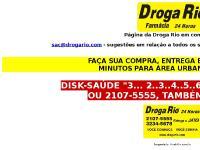 Página da Droga Rio em construção