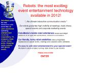 Entertainment Robots - event entertainment robots for special events, corporate events, public relations