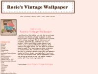 Rosie's Vintage Wallpaper unique source of vintage, antique wallpaper