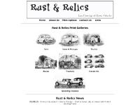 Rust & Relics - Homepage - Black and White Line Drawings of Classic Vehicles