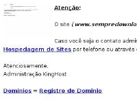 sempredownloadsgratis.com KingHost, Hospedagem de Sites, Dominios
