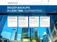 SEPATON delivers the world's fastest backup and recovery.
