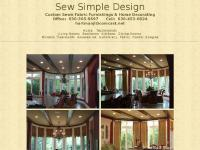 Sew Simple Design; custom desined window treatments and home decorating.