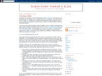 Shashidhar Thakur's blog
