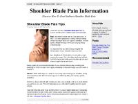 Pain In Your Shoulder Blade?, Shoulder Blade Pain Tips, What Causes Shoulder Blade Pain?, Pain In Your Shoulder Blade?