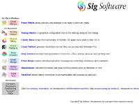 Sig Software - for Mac OS X, Windows, Macintosh