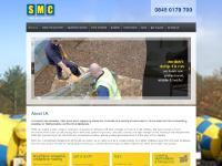 smcminimix.co.uk homepage, case studies, haulage