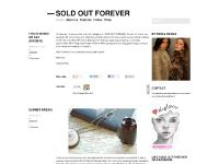 soldoutforever.wordpress.com —SOLD OUT FOREVER, About us, Features