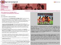 sport and development