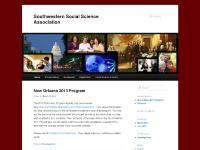 Southwestern Social Science Association - Home