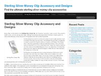 Sterling Silver Money Clip Gift Ideas and More