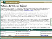 talisman-games.com Talisman Games, several different games, Why?