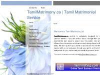 TamilMatrimony.ca | Tamil Matrimonial Service - Home