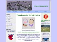 Teach Peace Now Homepage