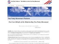 Tea Partiers, Voice of the Tea Party, What is the Tea Party, Tea Party Ideas