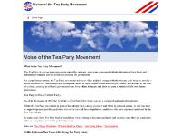 Voice of the Tea Party Movement