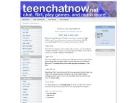 Teen Chat Now - The free teen chat network! - Main Page