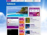 Cheap Holidays, Chat, Used Cars - Teletext