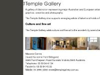 The Temple Gallery | FINE ART