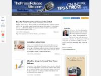 thepressreleasesite.com press release writer, press release writing service, how to write a press release