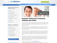 TheProWriters.com : Professional Writing That Sells - Profiles, Marketing Letters, Annual Reports, Website Content, Power Point Presentations, etc.