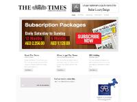 Where to get The Times, LUXX Middle East, The Times, Lifestyle
