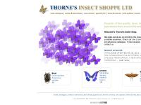 Thorne's Insect Shoppe Ltd - Supplier of fine quality, dead, dried insect specimens from around the world