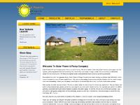 SunRotor Solar Pumps Simple Design High Quality Solar Pumps Systems