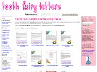 Free Tooth Fairy Letters & Coloring Pages