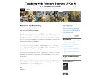 Teaching with Primary Sources @ Cal U | K-16 Professional Development