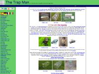 Trap Man, UK manufacturers and mail order suppliers of live capture and humane traps, Quick UK delivery from Trap Man's stock of mouse traps, rat traps,fox traps,rabbit traps,mink traps,magpie traps,